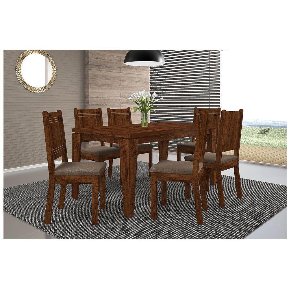 a690016dfa Conjunto Sala de Jantar Mesa Bela com 6 Cadeiras New Romana DJ Móveis  Produto não disponível
