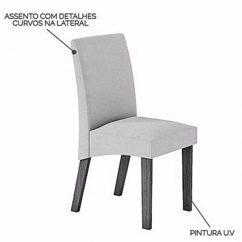 f757c48a02 Conjunto Sala de Jantar Mesa com Tampo de Vidro e 4 Cadeiras Atuale LJ  Móveis Castanho Prêmio Vel Pena Bege Produto não disponível