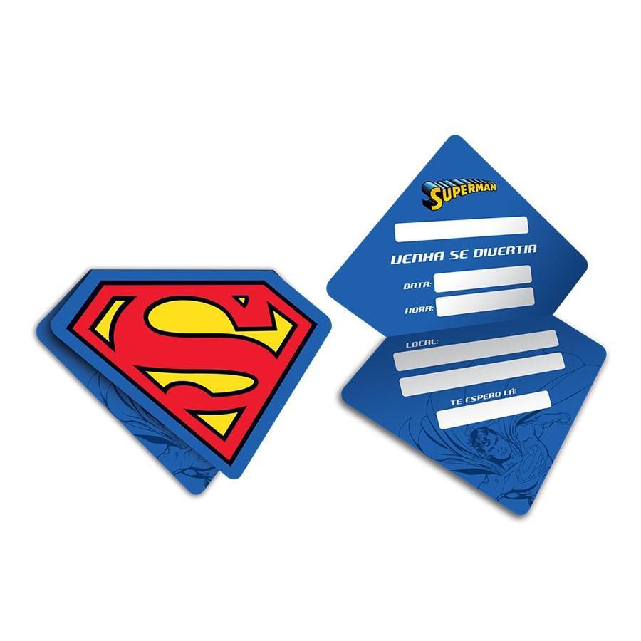 Convite de Aniversário Superman 08 unidades Festcolor - Convites para Festa  - Magazine Luiza dd05e95532e10