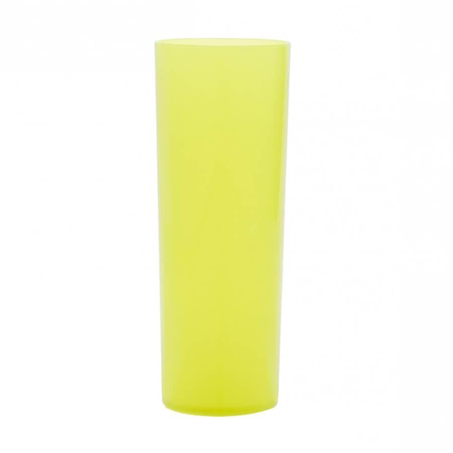 affcebac2 Copo long Drink Slim Durável Amarelo Neon Leitoso 260ml 84 unidades Bezavel  - Festabox R  189