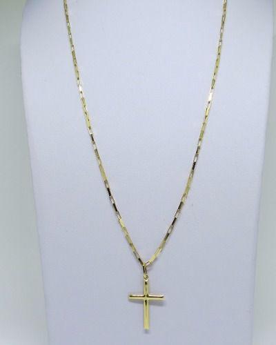 74f1c9eddbaa8 Cordão Corrente Masculina 60cm Pingente Crucifixo 2.7cm Ouro 18k Cadeado -  Dr joias R  1.549,99 à vista. Adicionar à sacola