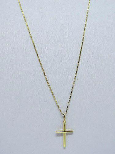 Cordão Corrente Masculina Ouro 60cm E Pingente Cruz Crucifixo Ouro 18k 750  Cadeado - Dr joias R  494,99 à vista. Adicionar à sacola a6f6c79d7c