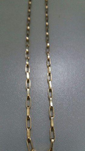 0100449cb84 Corrente Cordão Cartier Oca Alongada 60cm Masculino Ouro 18k - Total pratas  R  1.055