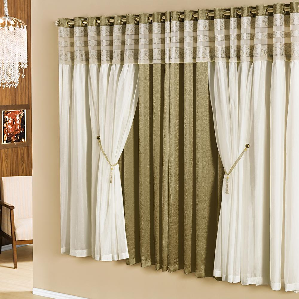 Cortina casa dona celine 400x270cm ouro cortinas - Cortina moderna ...