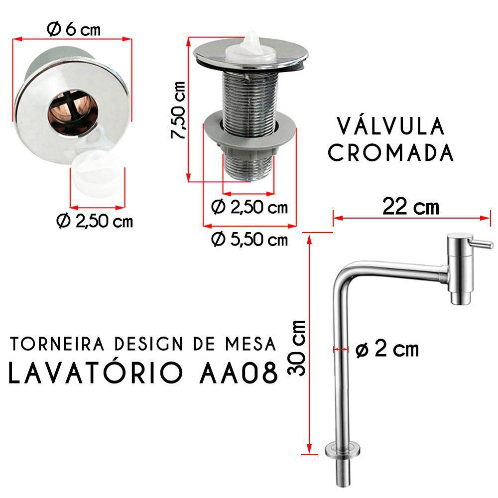 a7baa47362 Cuba Barcelona Amarela Com Torneira e Valvula Cromada - Aladdin R  199