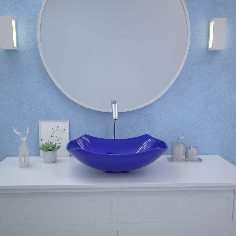 Cuba De Apoio Para Banheiro Abaulada L42 Lux Compace Azul Escuro Cuba De Apoio Para Banheiro Magazine Luiza