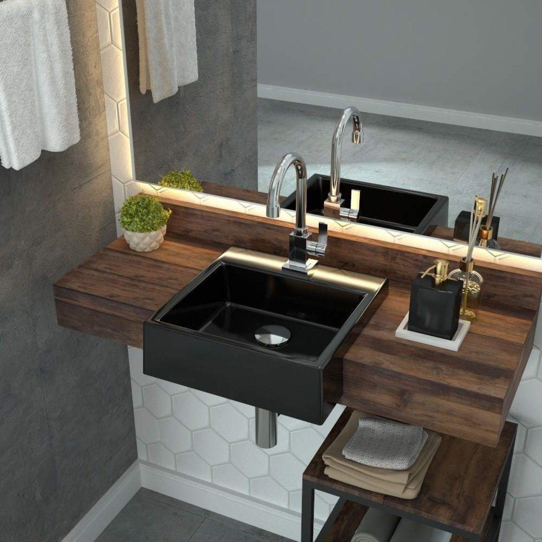 Cuba De Semi Encaixe Para Banheiro Xq355 Quadrada Compace Banheiro Magazine Luiza