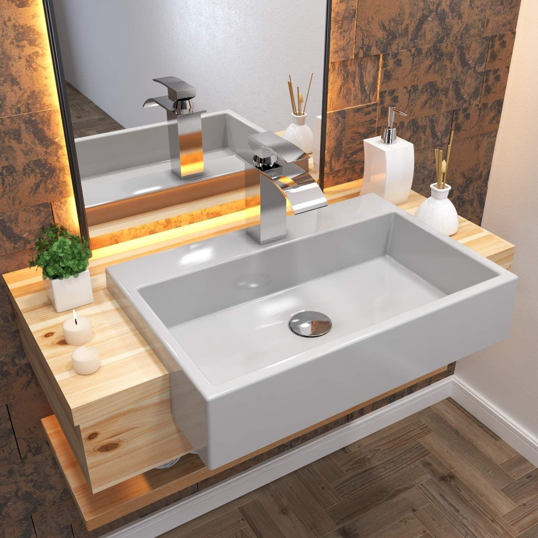 Cuba De Semi Encaixe Para Banheiro Xrt550 Retangular Compace Banheiro Magazine Luiza