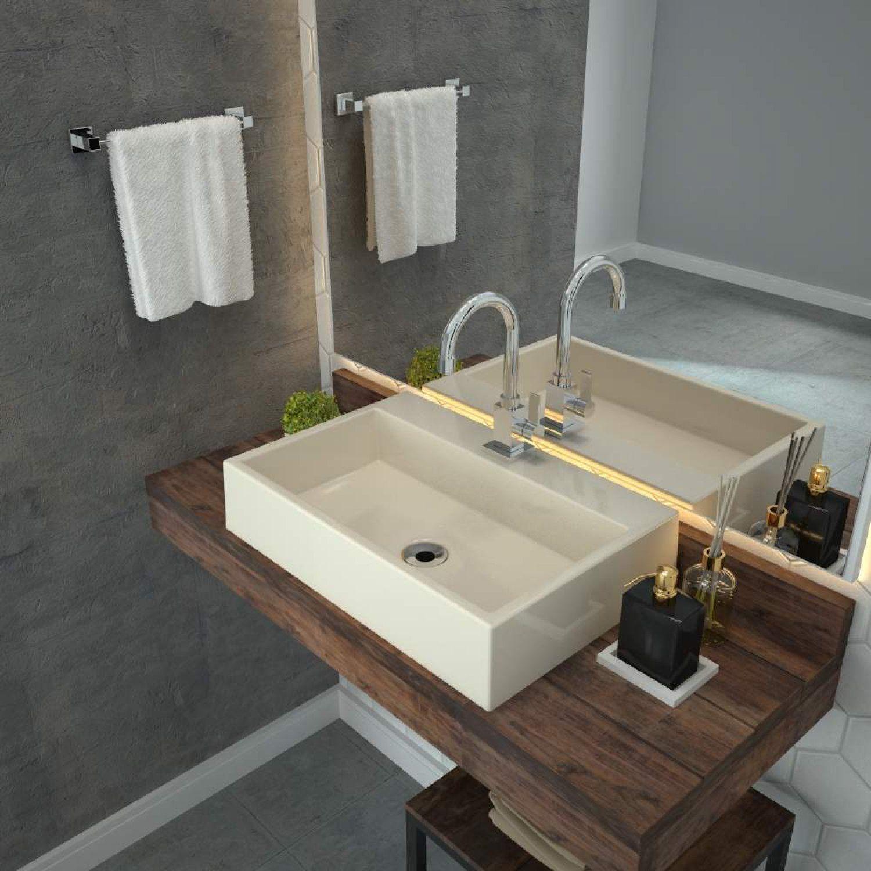 Cuba Para Banheiro Rt55w Retangular Florenza Compace Bege Banheiro Magazine Luiza
