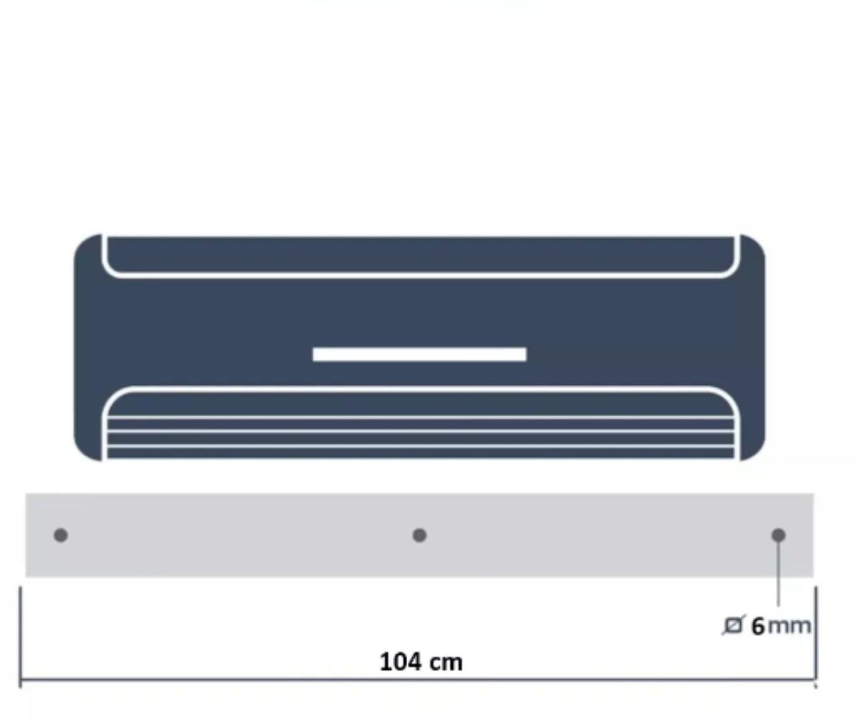 704605cb0 Defletor para Ar Condicionado split de 18.000 a 24.000 BTUs em acrílico  transparente - 105x36cm - Aflmix R  149