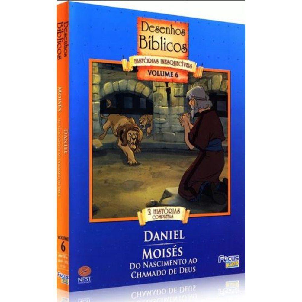 Desenhos Biblicos 6 Daniel Dvd Focus Filmes No Magalu