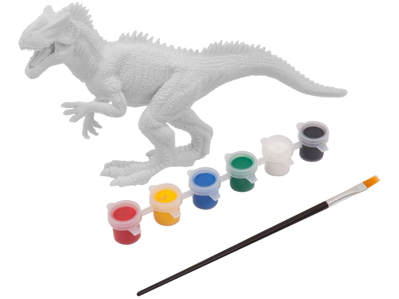 Dinossauro De Brinquedo Dino Para Colorir Xplast Bonecos E