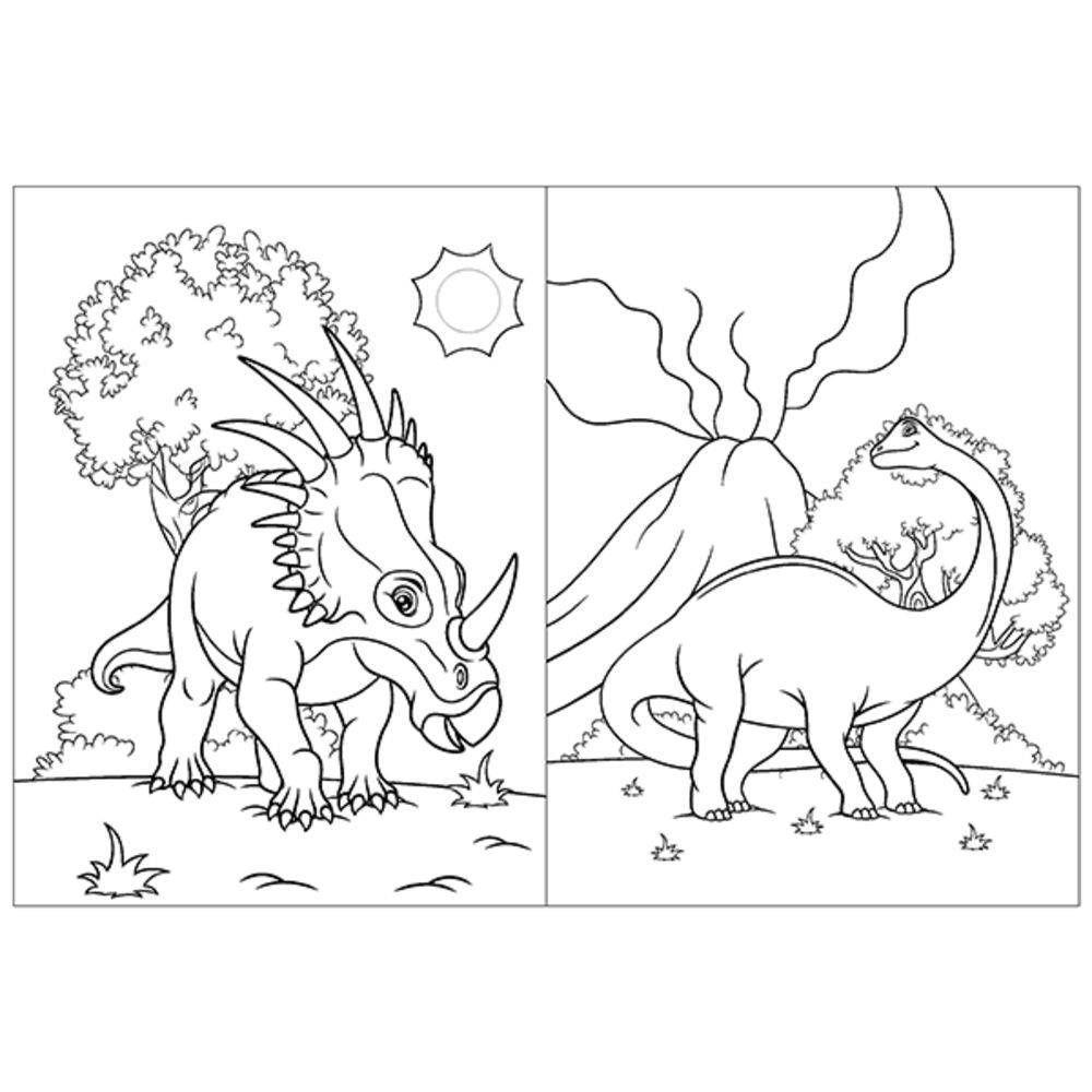 Dinossauros Col Livro De Colorir C 80 Paginas Blu Livros De