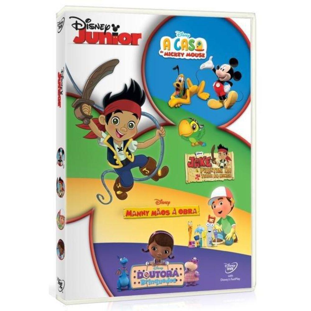 Disney Junior 4 Dvds Jake Mickey Doutora Brinquedos Filmes Infantil Magazine Luiza