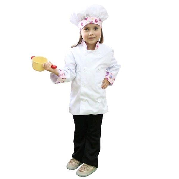 Dolma + Touca Chef Infantil Docinhos - Aquarela - Avental de Cozinha ... b0e40beb5b4