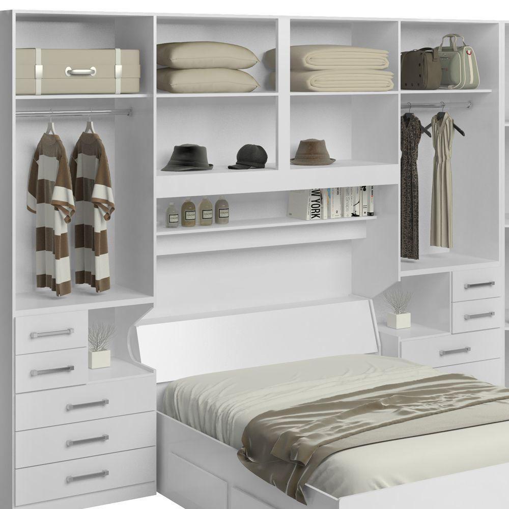 58da803cc0 Dormitório De Casal Sem Cama 1222S Branco - Móveis ilan - Quarto ...