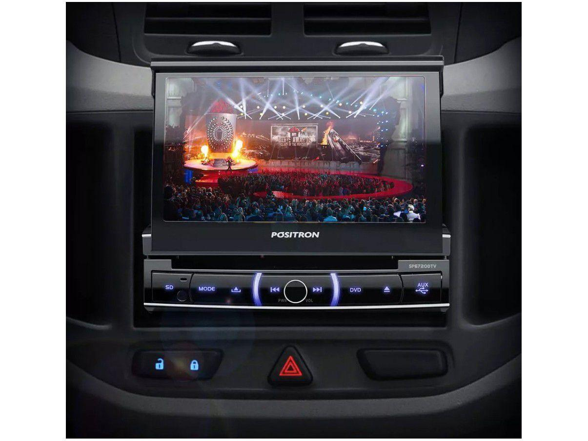 "afba42aab5 DVD Automotivo Pósitron SP6720 LCD TV 7"" Retrátil - Touch Bluetooth 80W RMS  Entrada Câmera de Ré USB - Dvd Automotivo - Magazine Luiza"