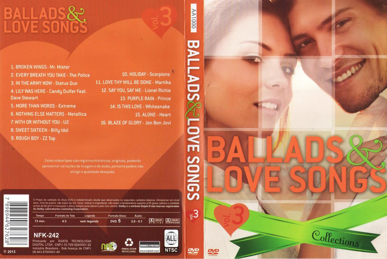 DVD Ballads e Love Songs - Collections - Volume 3 - Sonopress
