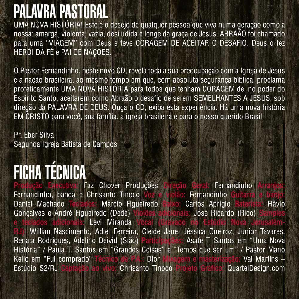 DVD Uma Nova História Fernandinho Original - Onimusic - Música e Shows  Gospel e Religioso - Magazine Luiza