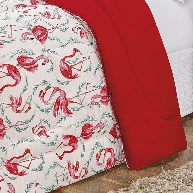 1d706c9be2 Edredom King Dupla Face Malha Penteada 100 Algodão 1 Peça - Flamingo - Bia  enxovais R  187