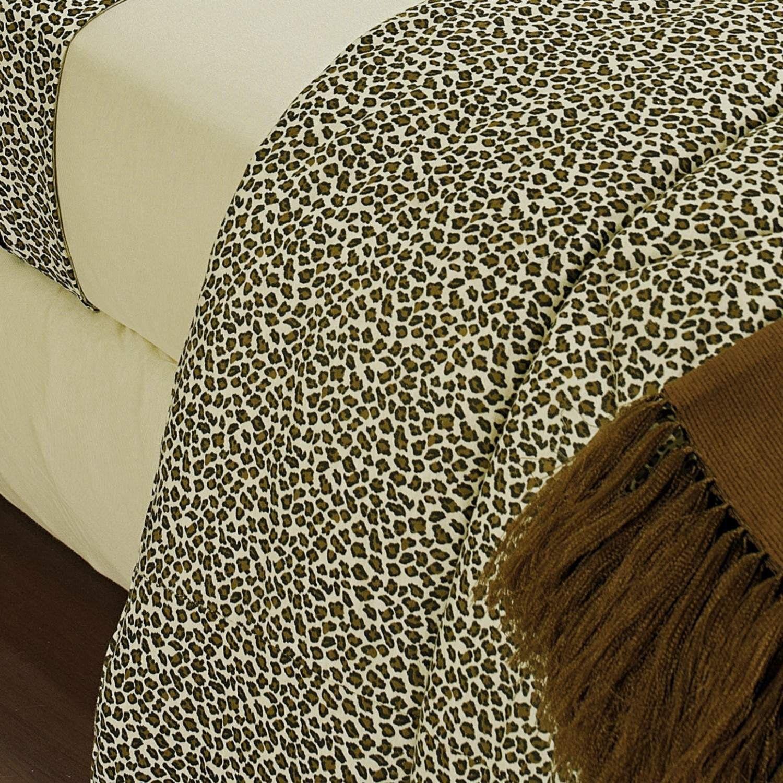 7ea1448f3e Edredom Super King Safari Malha 01 Peça Bernadete Casa Onça R  559