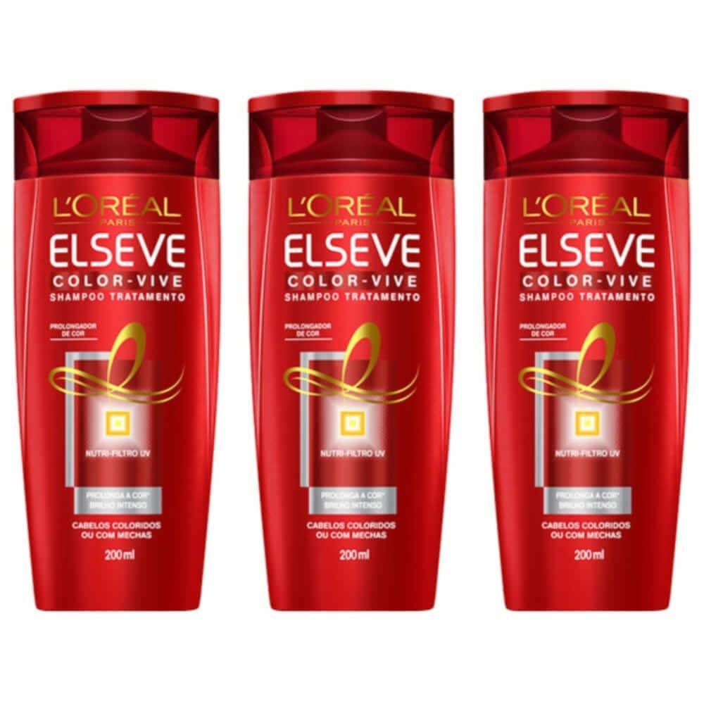 d4877037a Elseve Color Vive Shampoo 200ml (Kit C/03) R$ 44,24 à vista. Adicionar à  sacola
