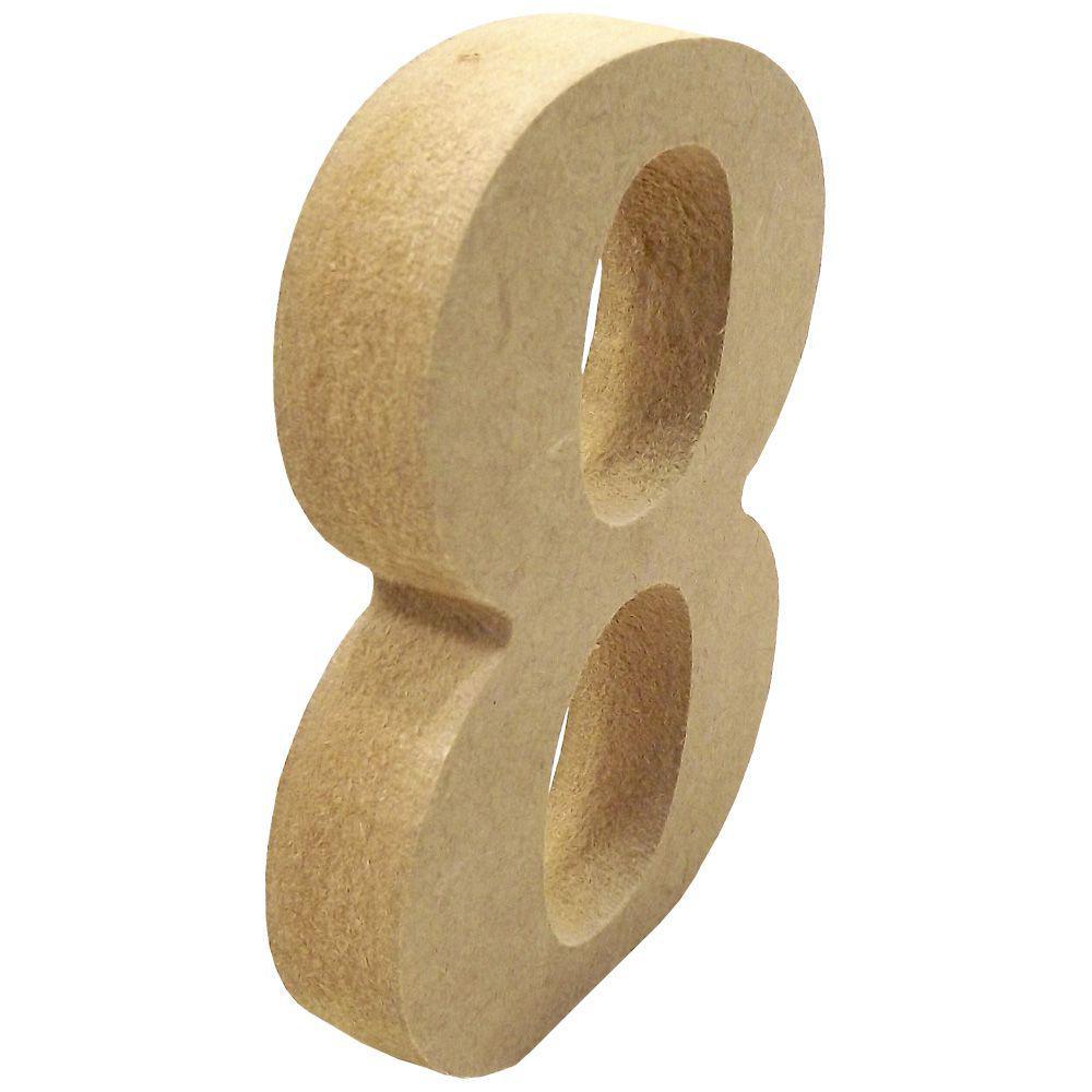 """5d731d305c0c5 Enfeite de Mesa Número """"8"""" 12cm x 18mm - Madeira MDF - Palácio da arte R   1"""