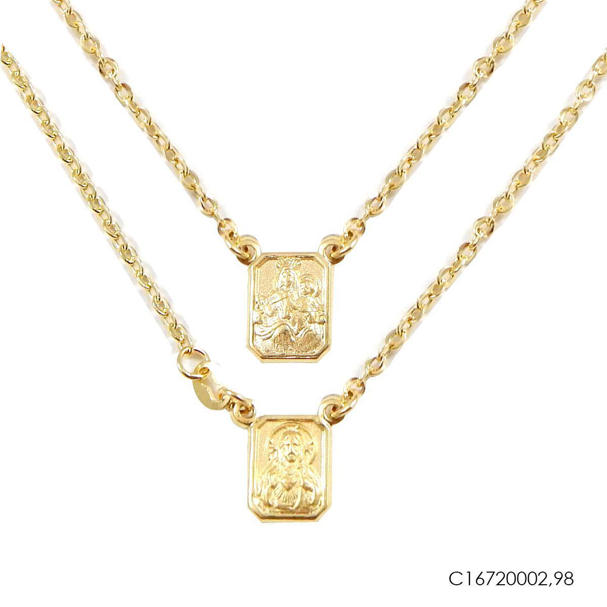 b0515919cd7 Escapulario Cartier Dourado Ouro 18k C16720002