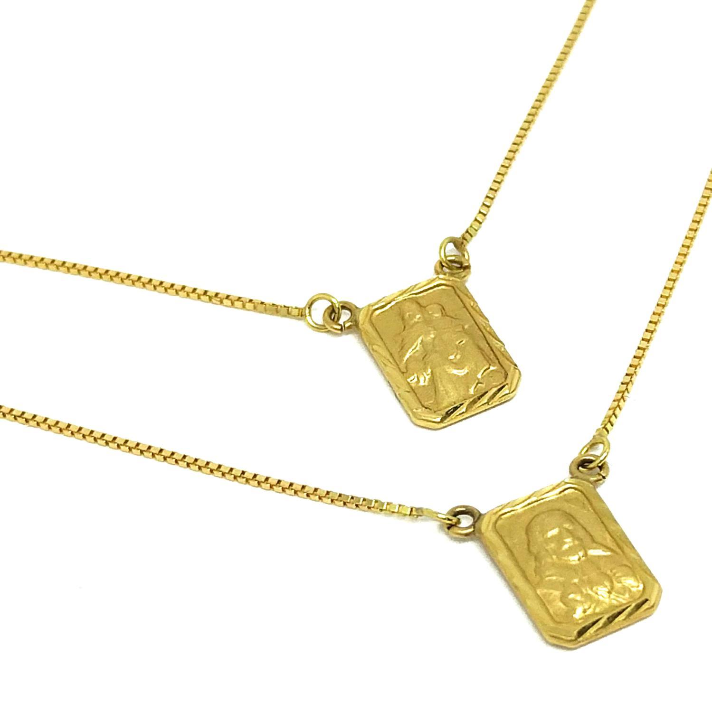 1087a2d276f7a Escapulário Em Ouro 18k Veneziana Medalha Diamantada - Glamour R  980