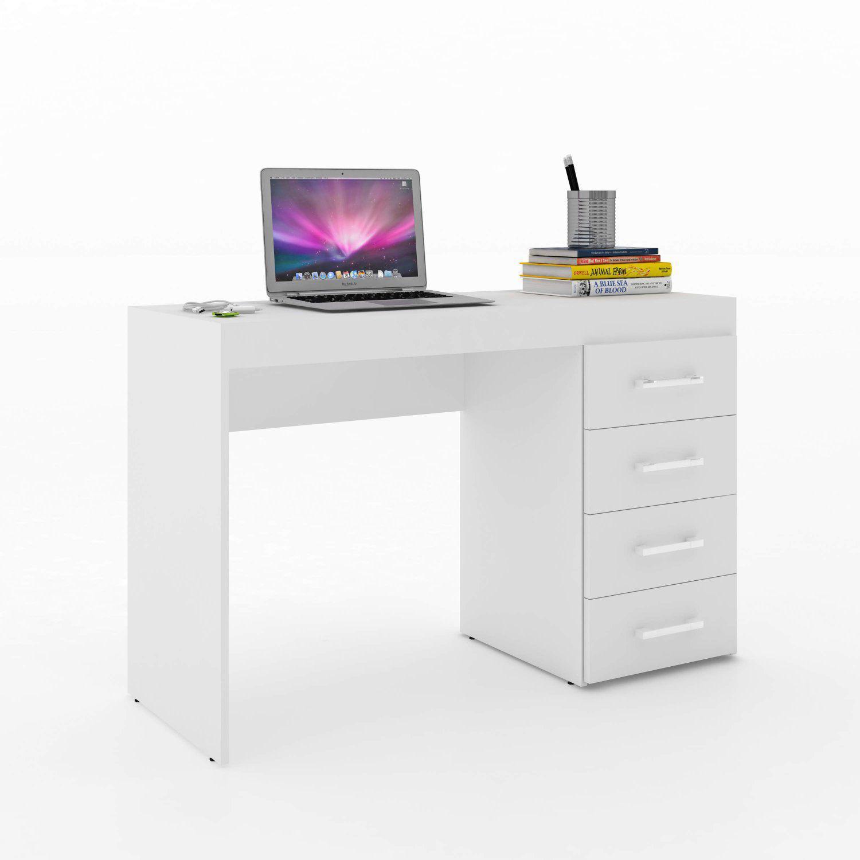 Escrivaninha 4 Gavetas Vedere Escrivaninha Mesa Para Computador Magazine Luiza