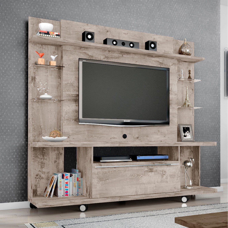 Porta Tv Torino.Estante Home Para Tv Ate 55 Polegadas 1 Porta New Torino Moveis Bechara Vanilla Rustico