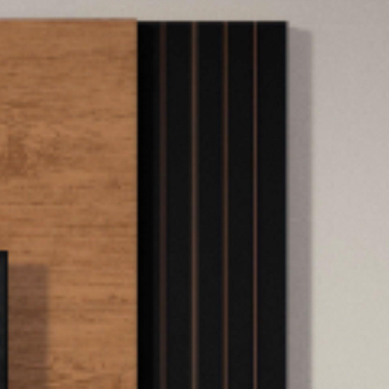 Estante Home Suspenso Para Tv Ate 48 Polegadas Londres Belaflex Nature Preto Fosco Estante Para Tv Magazine Luiza