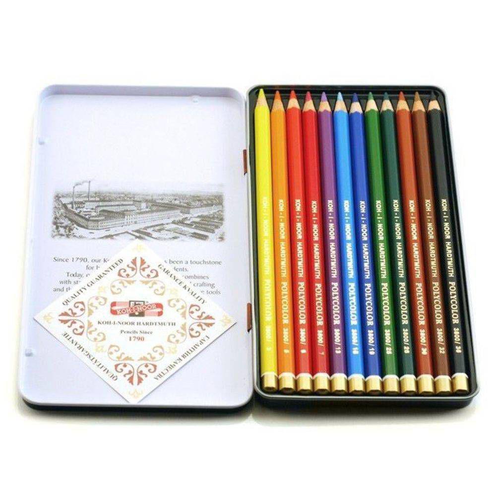 Estojo lapis polycolor c 12 - kn003822m012 - Koh-i-noor