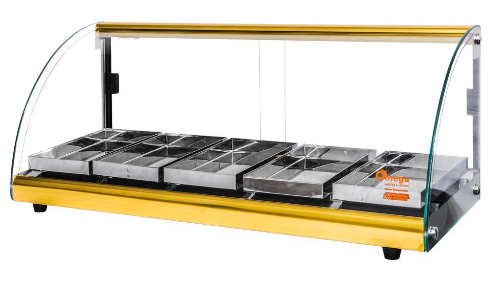 1c8051da218 Estufa Alfa Luxo de 5 bandejas Dourado Omega - Bcd industria R  527