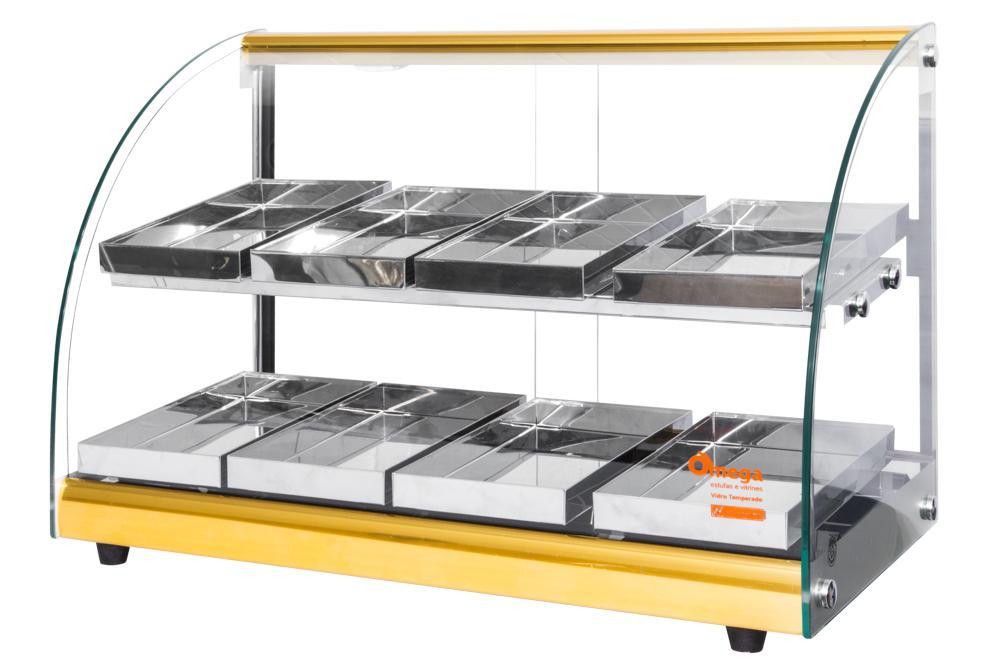 43671ec05b6 Estufa Alfa Luxo para salgados dupla de 8 bandejas Dourado Omega - Bcd  industria R  646
