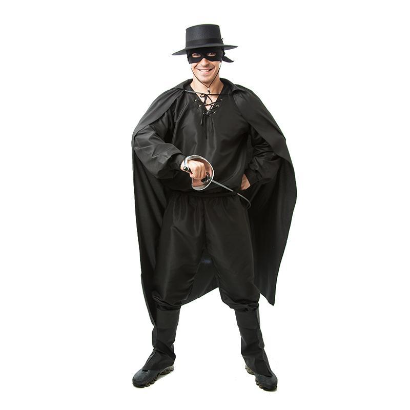 Fantasia Cosplay Zorro Adulto Masculino - Jade fashion - Fantasias ... 57fc8dceb1c