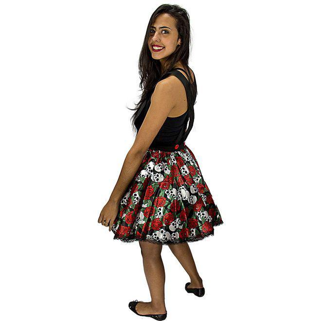 cba367707 Fantasia de Caveira Mexicana Jardineira de Halloween Adulto Feminino - Fantasias  carol kb R$ 77,98 à vista. Adicionar à sacola