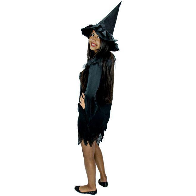 bd64f69b7f3af Fantasia de Halloween Bruxa Vixen Feminina Adulta Com Chapéu - Fantasias  carol kb R  64