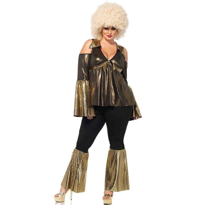 Fantasia Diva Disco Anos 80 Adulto Feminina Plus Size