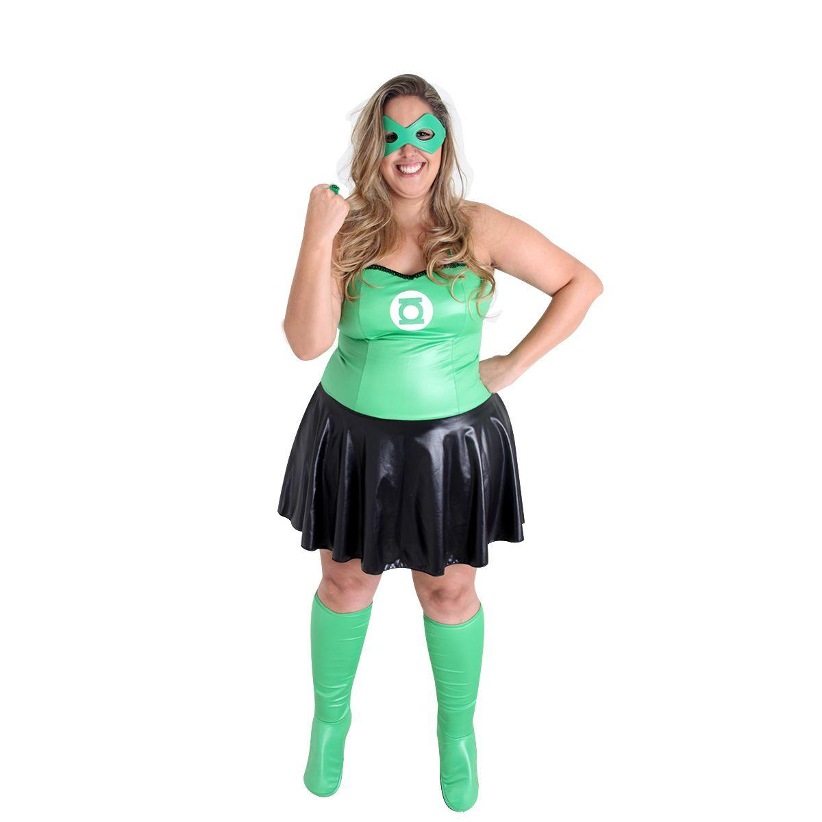 f26d7f9adf Fantasia Lanterna Verde Feminina - Plus Size - Liga da justiça - Fantasias  - Magazine Luiza