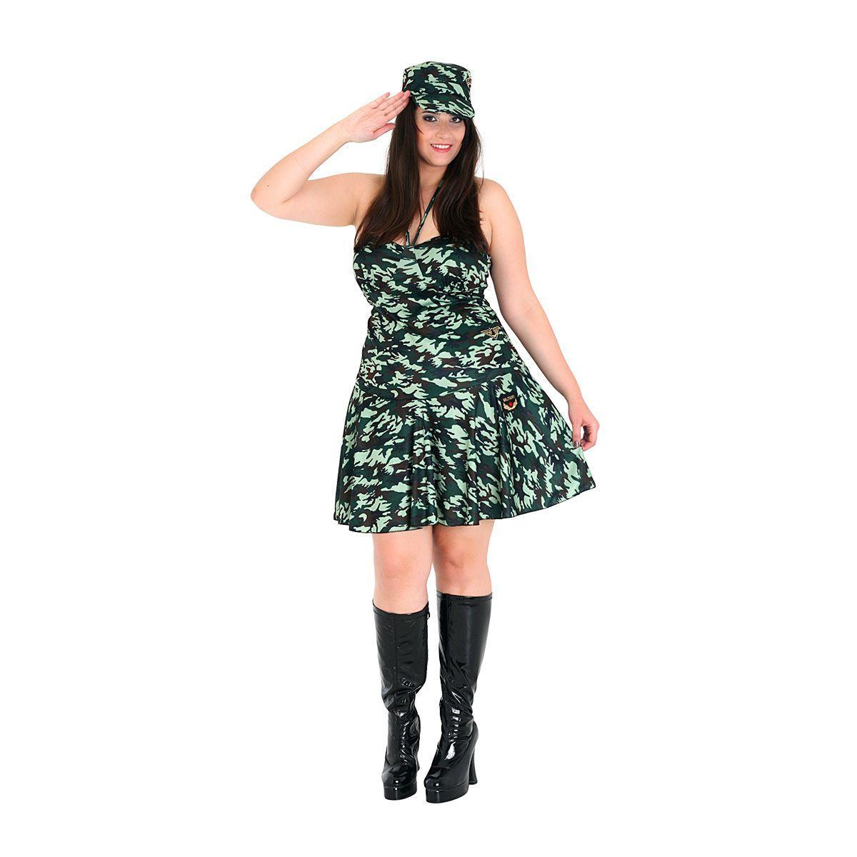 fedc7f5e0ff263 Fantasia Militar Vestido - Plus Size - Police