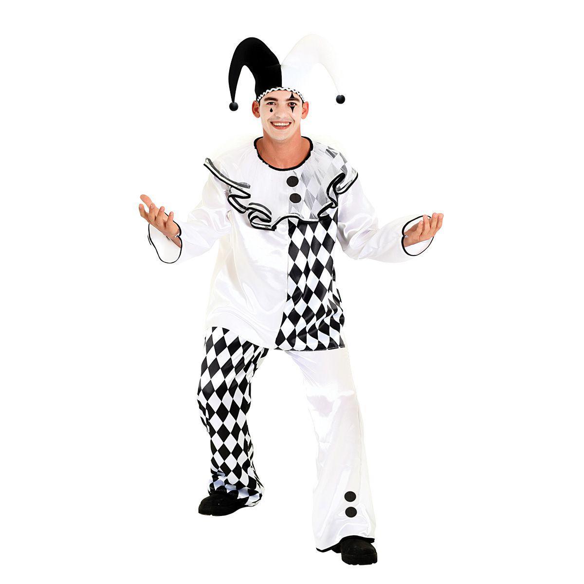 708ba63c6bb68 Fantasia Pierro Masculino - Circo - Fantasias - Magazine Luiza