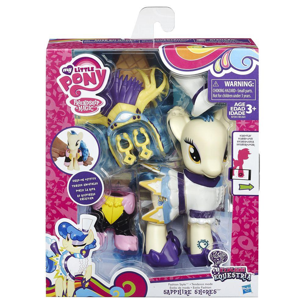 Figura My Little Pony Explore Equestria Fashion Style Sapphire Shores Hasbro Bonecas