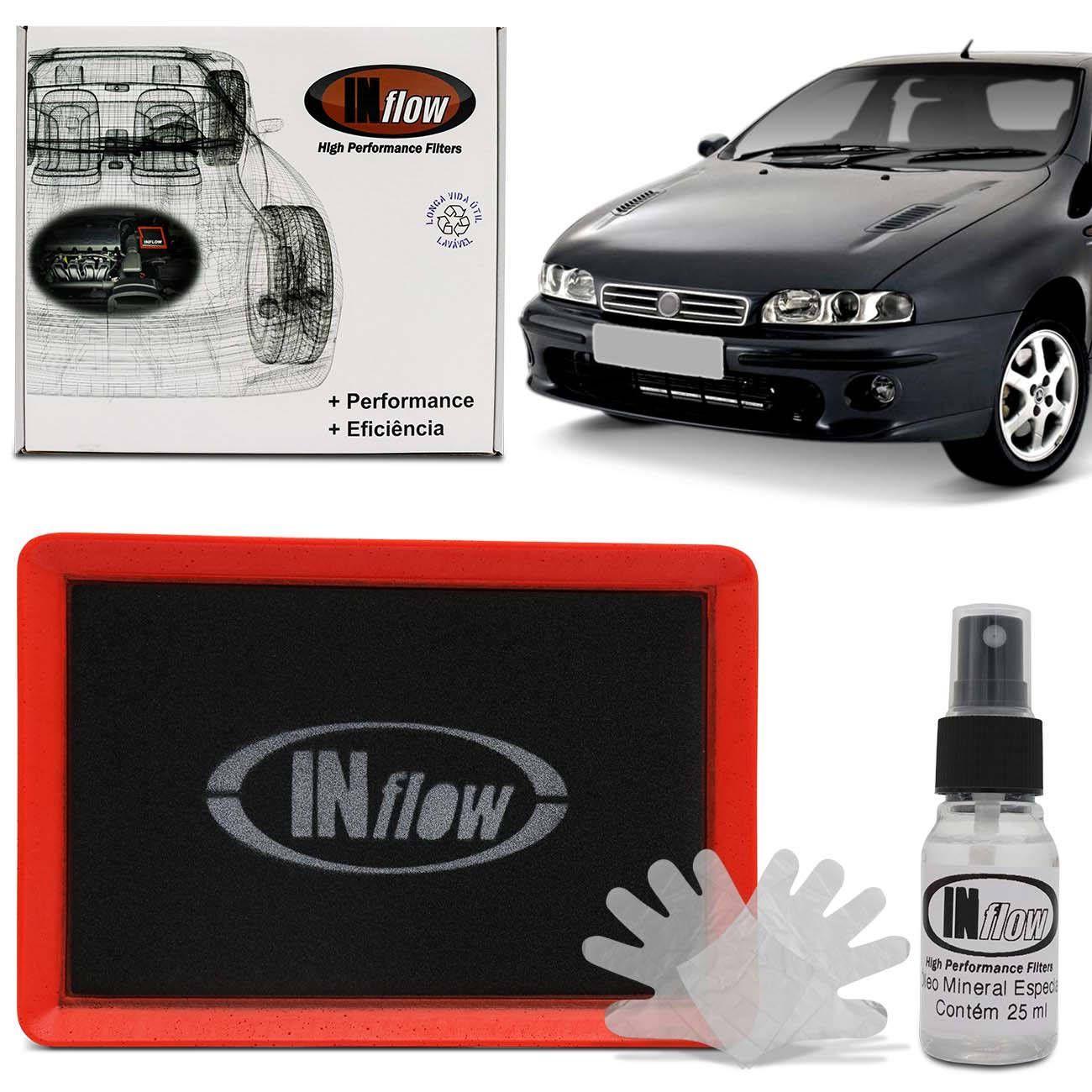 b8b5628d768 Filtro de Ar Esportivo Inflow Inbox Fiat Marea e Marea Weekend 99 a 08 Fiat  Brava HPF3150 R  163