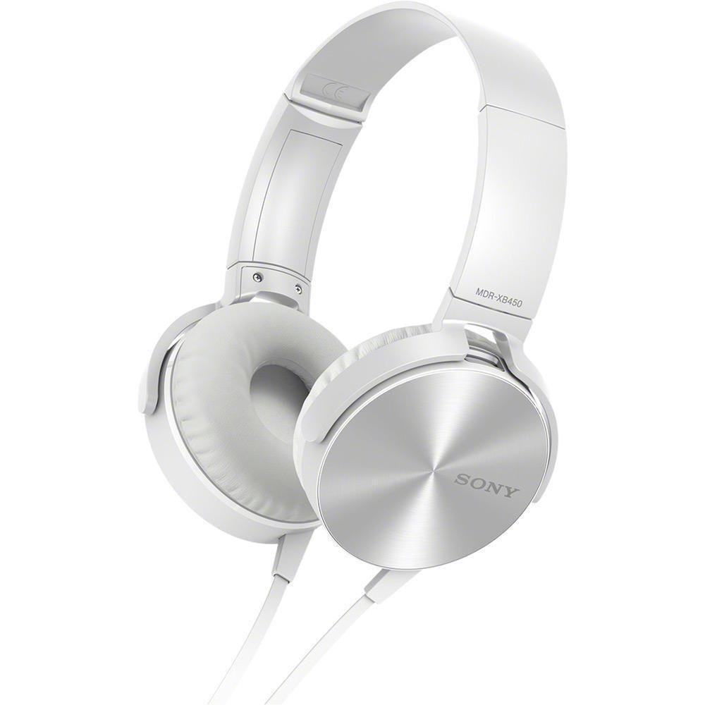 fac68dcbf Fone de Ouvido Sony P2 Branco MDR-XB450AP - Headphone - Magazine Luiza