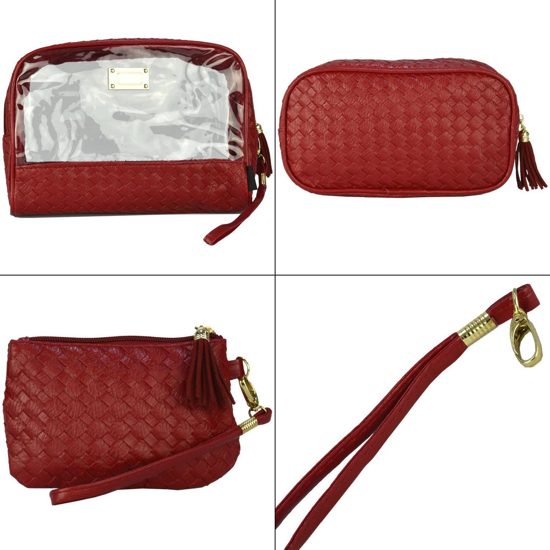f7439c88b Frasqueiras Necessaire Feminina Luxo Vermelho Kit 3 Peças CBRN08315 -  Commerce brasil R$ 45,31 à vista. Adicionar à sacola