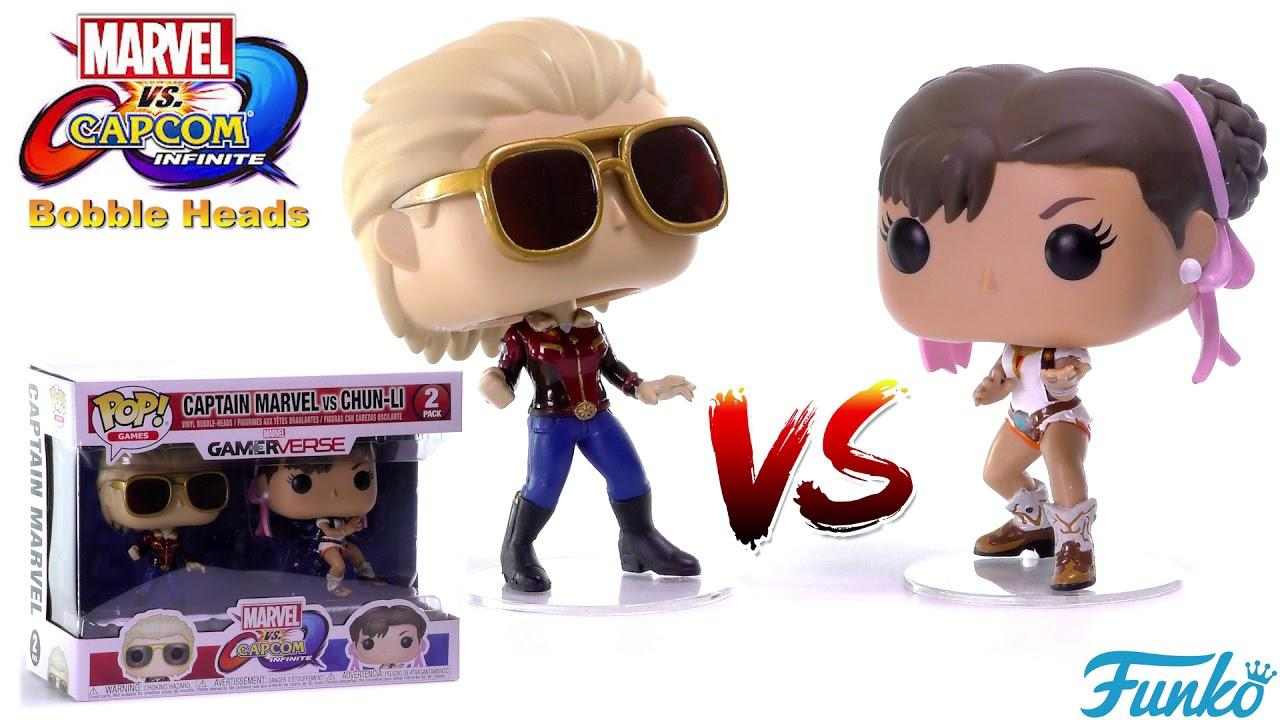 Funko POP Marvel Capcom Captain Marvel vs Chun-Li 2-pack Figure