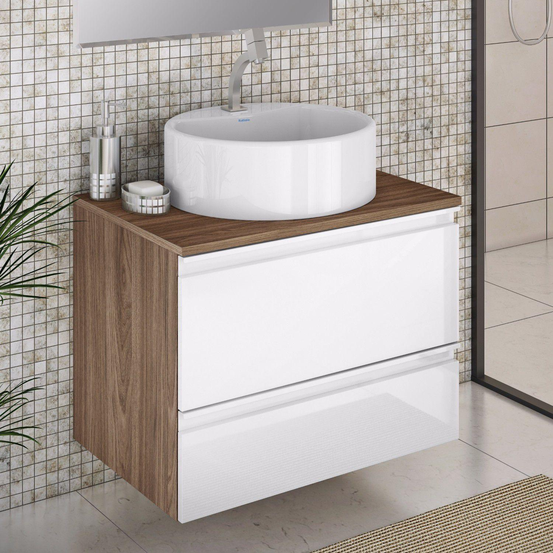 Linha Banheiro Itatiaia : Gabinete para banheiro com cuba redonda brisa itatiaia