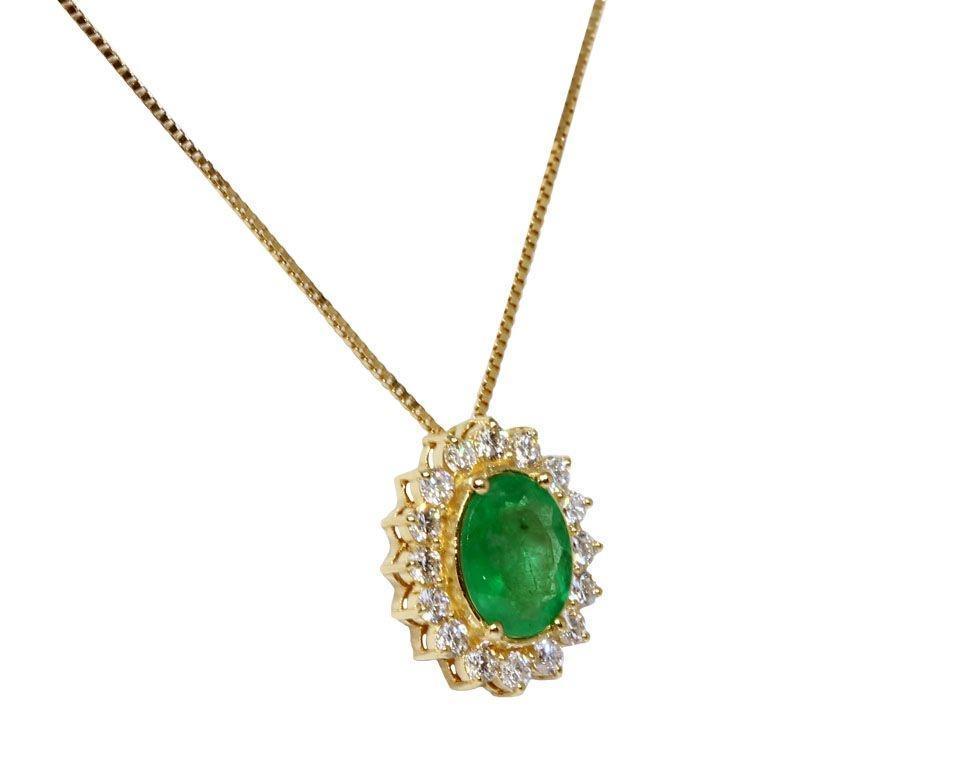 969e46871c92e Gargantilha ouro 18k diamantes e esmeralda - Retran joias - Colar ...