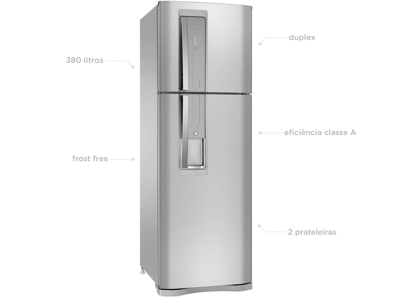 75e774082 Geladeira Refrigerador Electrolux Frost Free Inox - Duplex 380L Painel  Touch DW42X11089 - Geladeira Duplex - Magazine Luiza